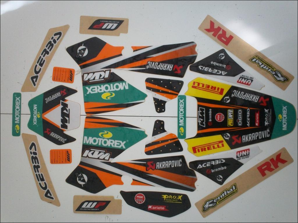 dfmoto, kit déco moto cross, pièces, accessoires moto